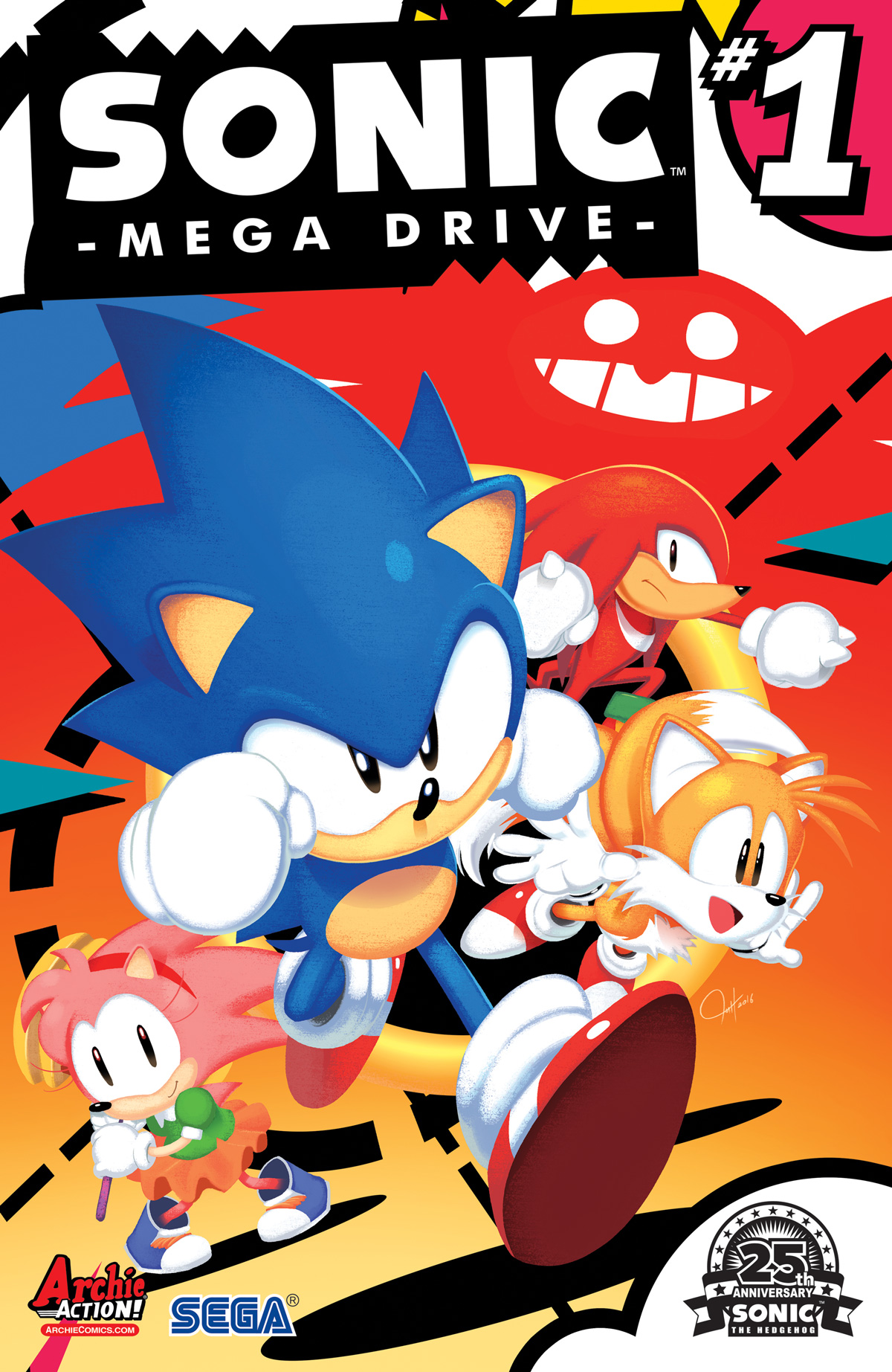 Archie Comics Celebrates 25 Years Of Sonic The Hedgehog With Sonic Mega Drive Archie Comics