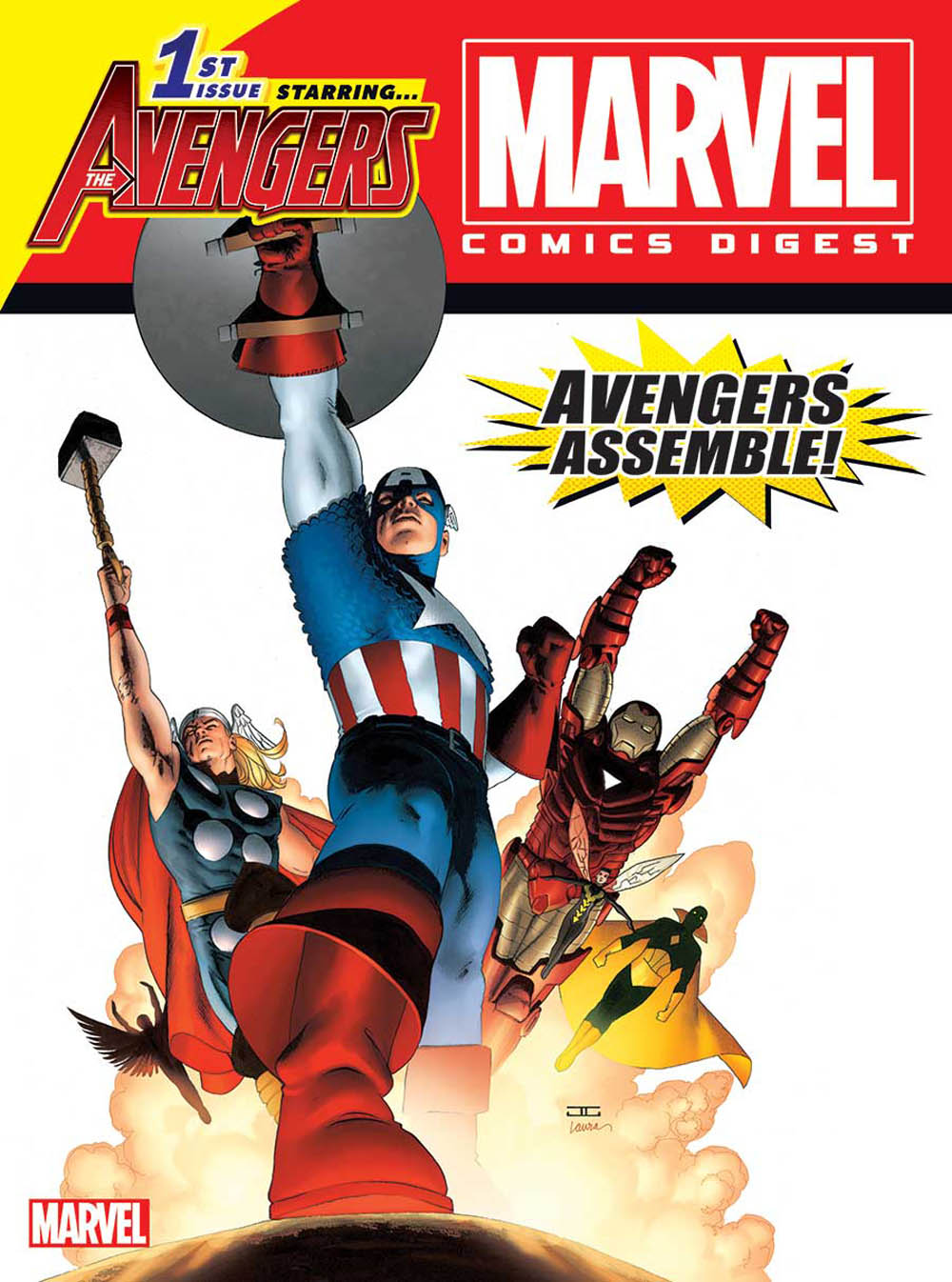 Marvel Comics Best Selling Heroes Are Back In The Ever Popular Digest Format This Second Issue Spotlights Blockbuster Superhero Team Avengers